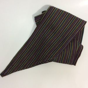 Sarape Stripe Wide Obi Tie Fashion Belt OS